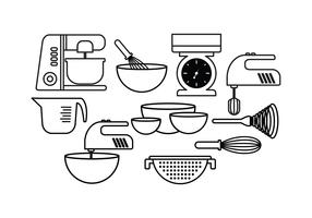 Free Baking Set Vector