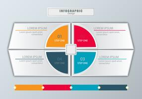 Modern style infographic design