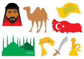 Free Turkey Elements Icons Vector