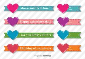 Valentine Days Vector Ribbons