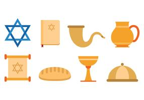Set Of Shabbat Icons