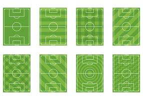 Set Of Football Ground Vector