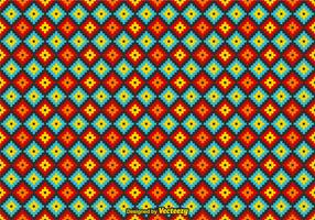 Free Vector Mexican Huichol Pattern