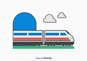 Free Vector High Speed Train Vector Illustration