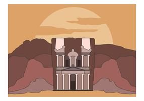Free Treasury At Petra Vector