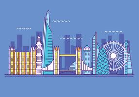 Vector Illustration The Shard and The London Skylane