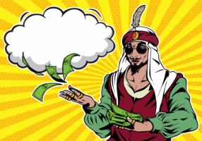 Sultan Pop Art illustration