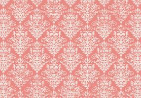 Pink Grunge Damask Background