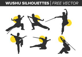 Wushu Silhouettes Free Vector
