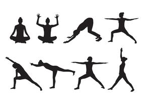 Free Woman Yoga Silhouette Vector
