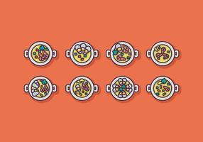 Paella Icon Vector Sets