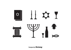 Shabbat Black Icons