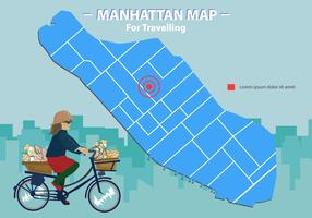 Manhattan Map For Traveller