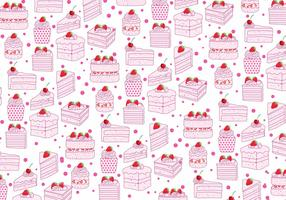 Strawberry Shortcake Pattern Vector