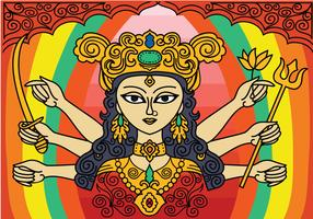 Free Durga Vector Background