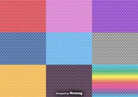 Vector Set Of Heart Seamless Patterns
