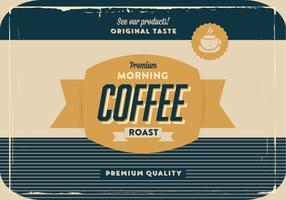 Gold and Navy Coffee Vector