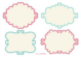 Cute Doodle Label Frames