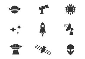 Free Outer Space Vector Icons