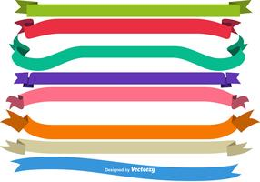 Vector Blank Colorful Ribbons