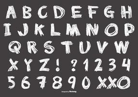 Messy Chalk Style Alphabet