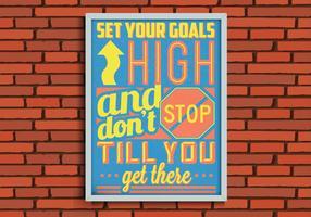 Goals Poster Vector