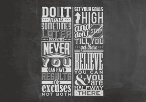 Set Your Goals Chalkboard Vector