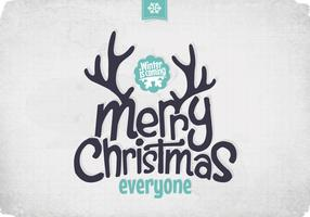 Frosty Winter Christmas Vector