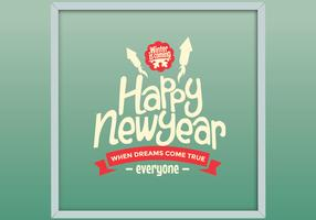 Framed Happy New Year Vector