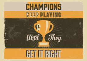 Champion Trophy Vector