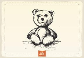 Teddy Bear Sketch Vector