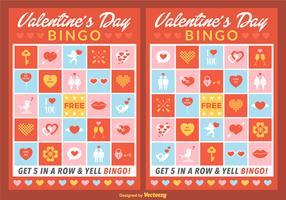 Vector Valentine Bingo Cards