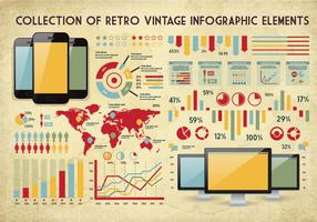 Infographic Vintage Collection Vector