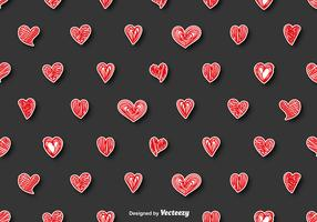 Vector Seamless Pattern - Doodle Hearts