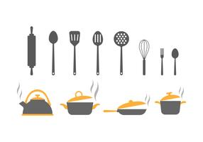 Free Kitchen Utensils Vector Icons