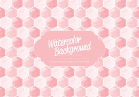 Vector Watercolor Honeycomb Pattern