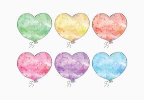 Vector Watercolor Balloon Set