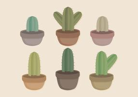 Vector Potted Cacti Collection