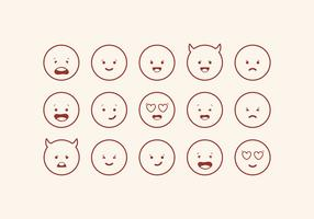 Vector Cute Emoticons Set