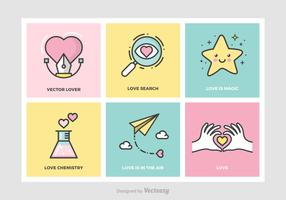 Cute Love Concepts Vector