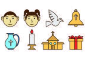 Set Of Bautizo Icons