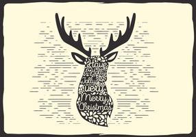 Free Christmas Vector Reindeer Typography