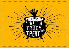Trick or Treat Cauldron Vector Illustration