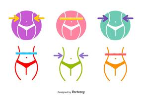 Slimming Vector Icons