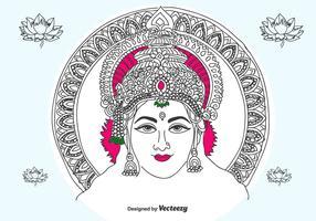 Hand Drawn Lakshmi  Vector