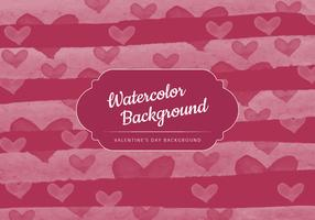 Vector Watercolor Valentine's Day Background