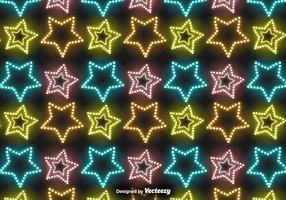 Vector Neon Stars Pattern