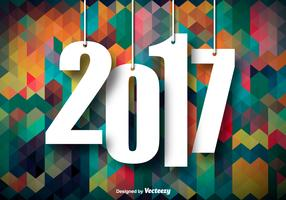 Colorful Background For 2017 New Year Celebration