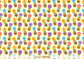 Flower Buckets Vector Pattern