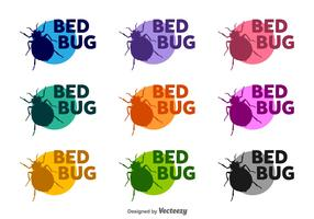 Bed Bugs Vector Silhouettes